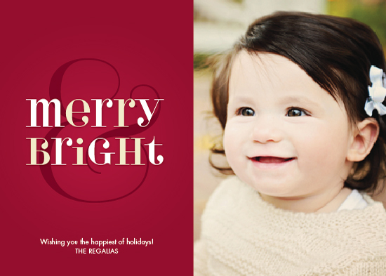 holiday photo cards - Merry Bright Type by Ann Gardner