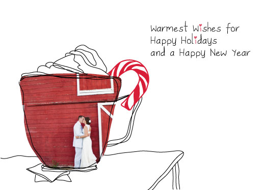 holiday photo cards - Warmest Wishes with Coffee by THE OOK