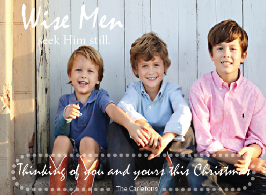 holiday photo cards - wise men by Andrea Robinson