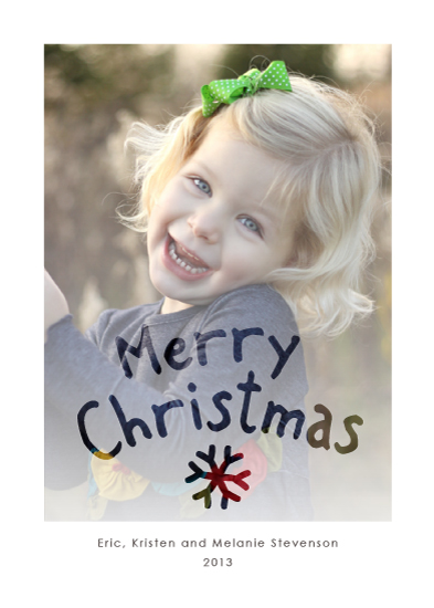 holiday photo cards - Window Writing by Kim Dietrich Elam
