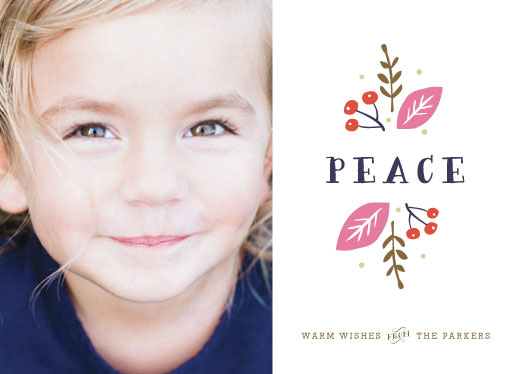 holiday photo cards - Organic Peace by Carolyn MacLaren