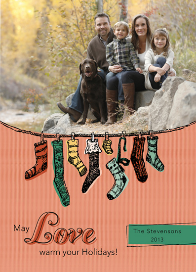 holiday photo cards - Warm Socks by Olga Mendenhall