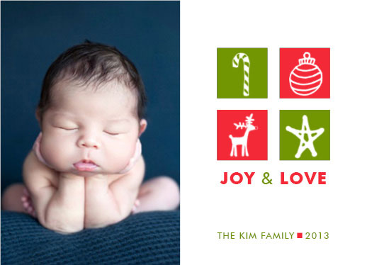 holiday photo cards - Joy & Love by THE OOK