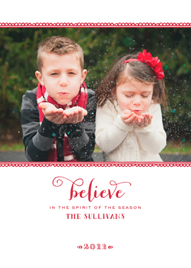 holiday photo cards - believe by Design Corral