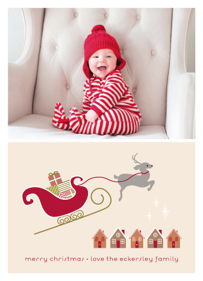 holiday photo cards - Merry Little Christmas by Kampai Designs