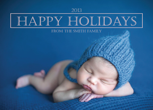 holiday photo cards - Happy Holidays Logo by Leslie