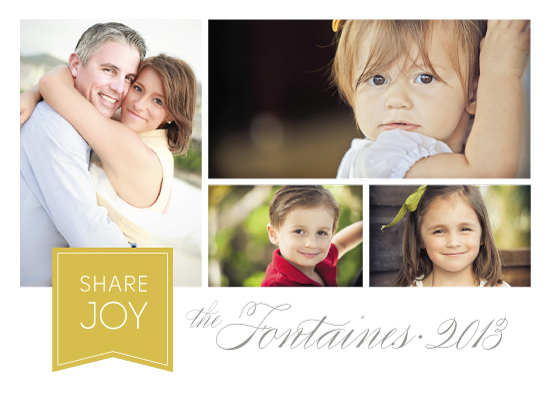 holiday photo cards - Share Joy by Ann Gardner