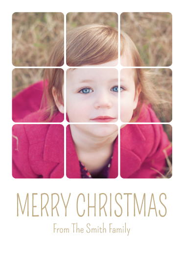holiday photo cards - Sectional Merry Christmas by Leslie