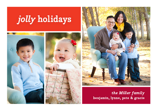 holiday photo cards - Color Blocking by Snow and Ivy