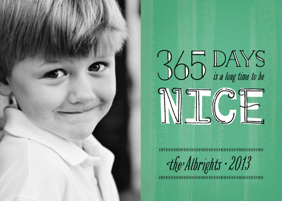 holiday photo cards - Be Nice by Ann Gardner