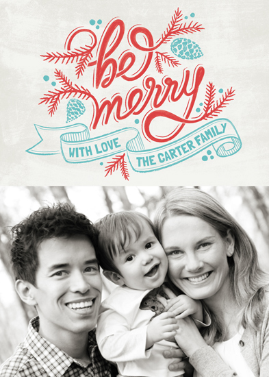 holiday photo cards - Merrily Scripted by GeekInk Design