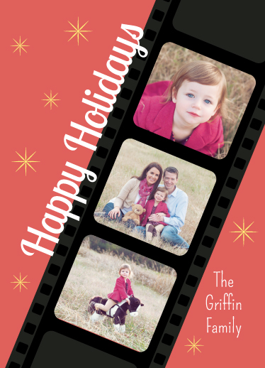 holiday photo cards - Filmstrip Holiday by Leslie