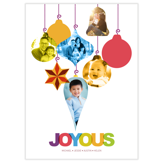 holiday photo cards - Joyous with us by Deyaz