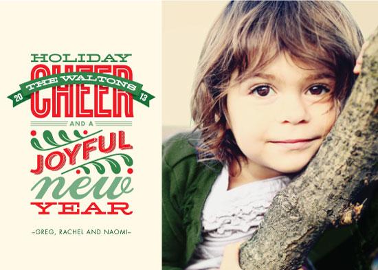 holiday photo cards - Cheery Type by Karen Glenn