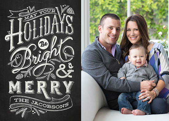 holiday photo cards - Bright and Chalky by GeekInk Design