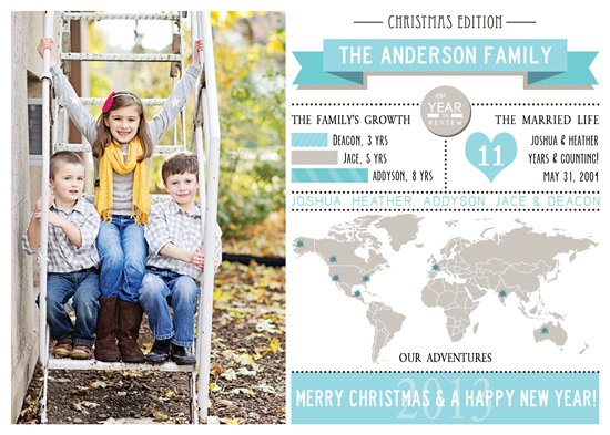 holiday photo cards - Infographic Christmas at Minted.com