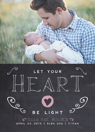 holiday photo cards - Let Your Heart Be Light by Danielle Colosimo