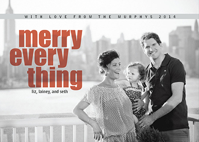 holiday photo cards - Black & White Merry by Rachel Olson
