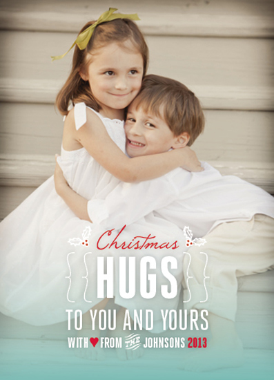 holiday photo cards - Christmas Hugs by Ellie B