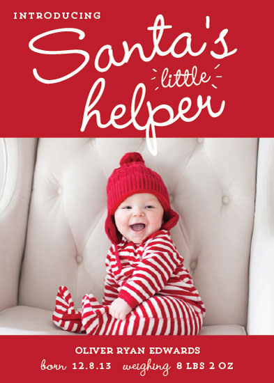 holiday photo cards - Santa's Little Helper by Paperful Press