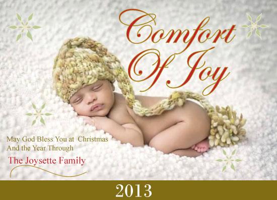 holiday photo cards - Comfort Of Joy by Pamela Rockett