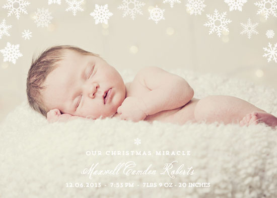 holiday photo cards - Christmas Miracle by Paperful Press