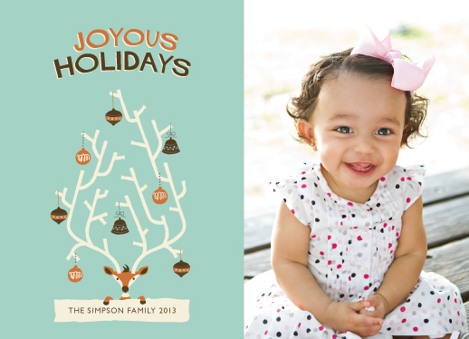 holiday photo cards - Christmas Antlers by Maddie Enriquez