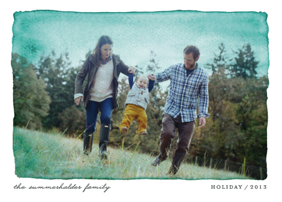 holiday photo cards - Aquarelle by cambria