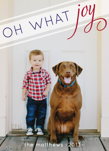 holiday photo cards - Oh What Preppy Joy by Stella Bella Invites