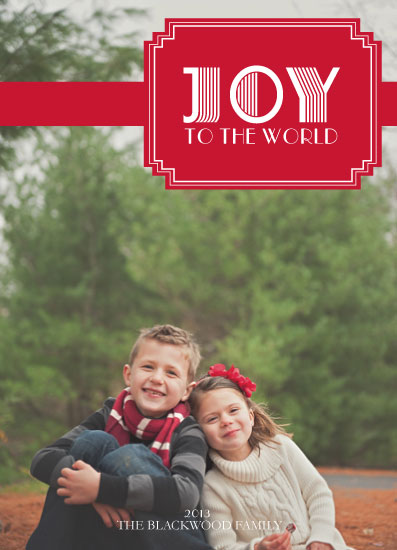holiday photo cards - Joy to the World - Art Deco by Alex Selsor