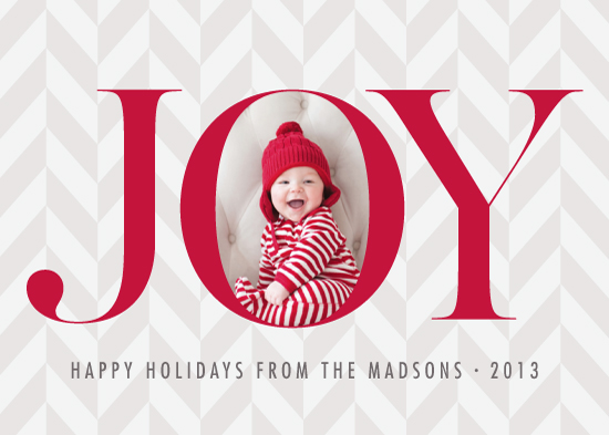 holiday photo cards - So Much Joy by the dotted j
