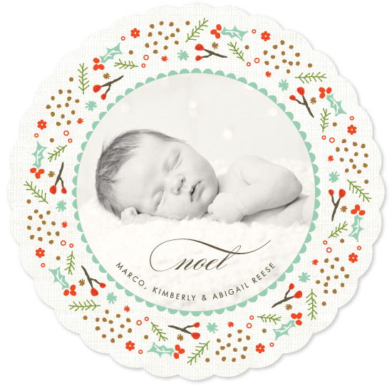 holiday photo cards - Woodland Wreath by Kristie Kern