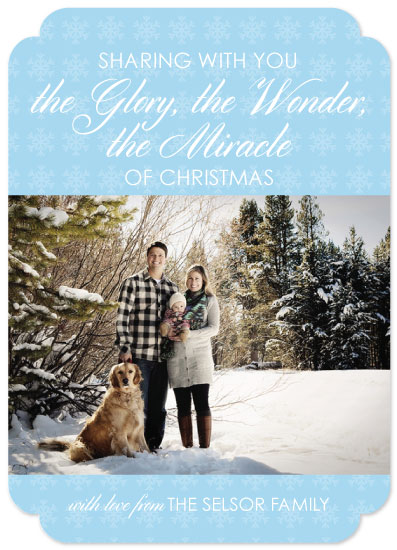 holiday photo cards - Miracle of Christmas by Alex Selsor