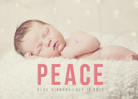 holiday photo cards - Christmas Peace by the dotted j