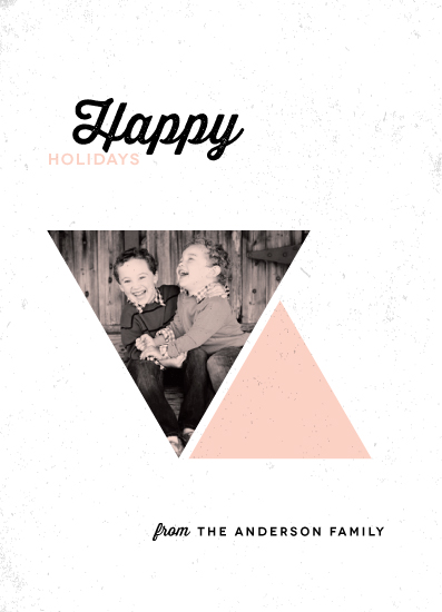 holiday photo cards - holiday geometry by Up Up Creative