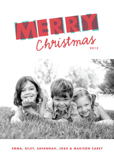 holiday photo cards - The Merry Type by Paper and Parcel