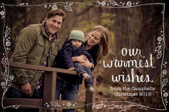 holiday photo cards - Our Warmest Wishes by Tomi Ann Hill