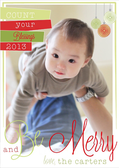 holiday photo cards - Count Your Blessings by Kim