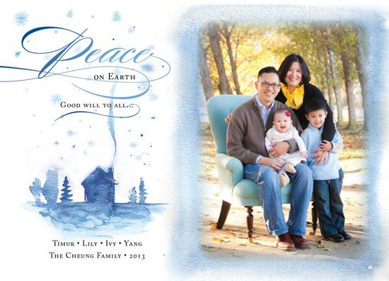 holiday photo cards - Watercolor Peace by Olga Mendenhall
