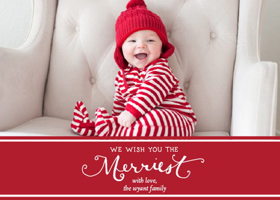 holiday photo cards - The Merriest of Wishes by Paper Lovely