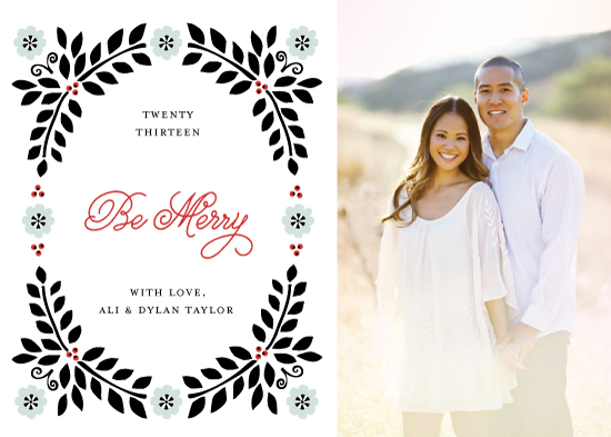 holiday photo cards - Merry Wreath by Monica Schafer