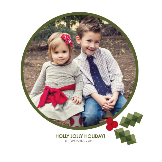 holiday photo cards - Winter Holly-Day! by Kate Lissi
