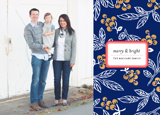 holiday photo cards - winter berry by cambria