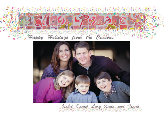 holiday photo cards - Cheer Peace Watercolor by Tree Stokes
