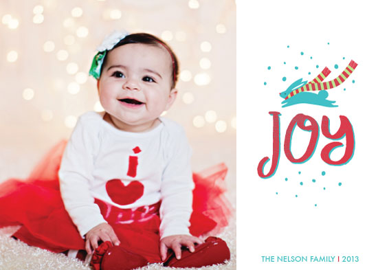 holiday photo cards - Joyful Bunny by kadie foppiano