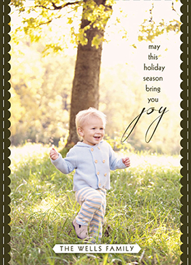 holiday photo cards - Joyful Meadow by Rachel Olson