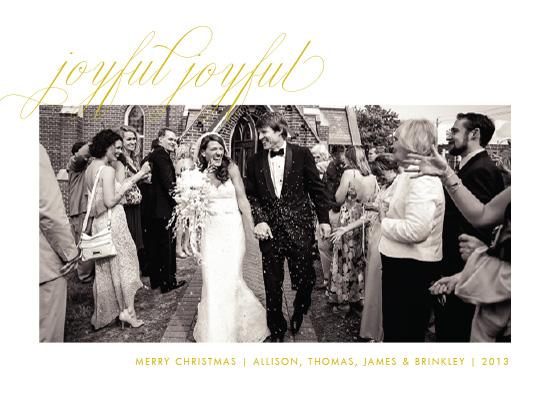 holiday photo cards - joyfuljoyful by Toast & Laurel