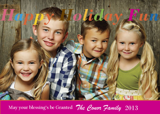 holiday photo cards - Happy Holiday Fun by Pamela Rockett