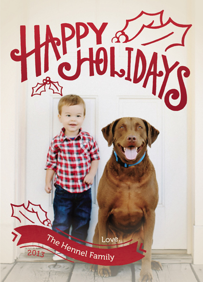 holiday photo cards - Happy Holi-days by Jayme Sloan Hennel