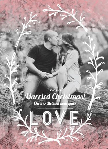 holiday photo cards - Married Christmas Wreath by Maren Kelly
